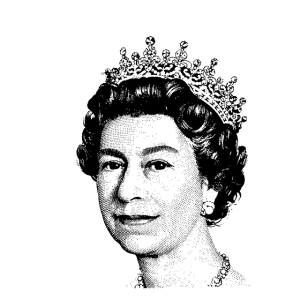 Queen of England Portrait
