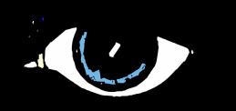 Auge blaue Iris gezeichnet